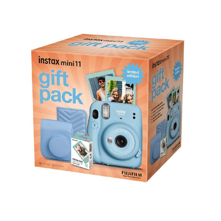 Fujifilm Instax Mini 11 Blue Limited Edition Gift Pack, , hi-res