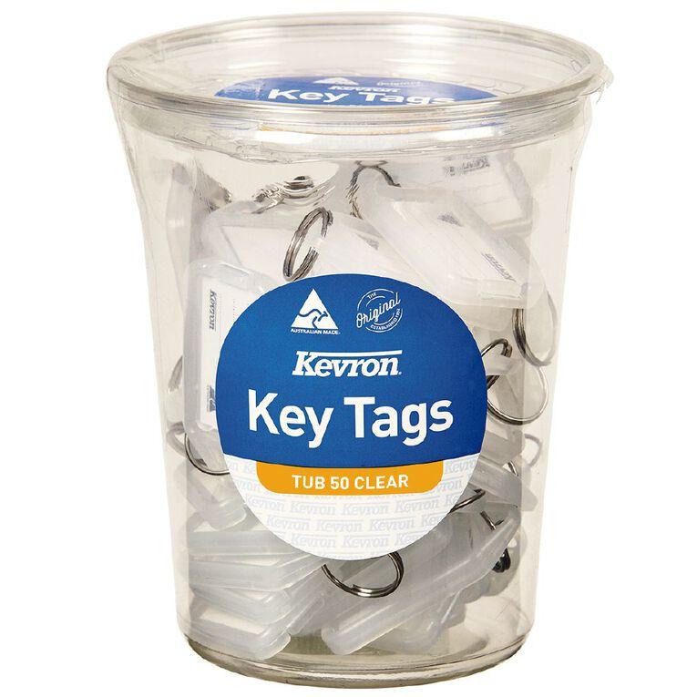 Kevron ID5 Key Tags Clear 50 Pack, , hi-res