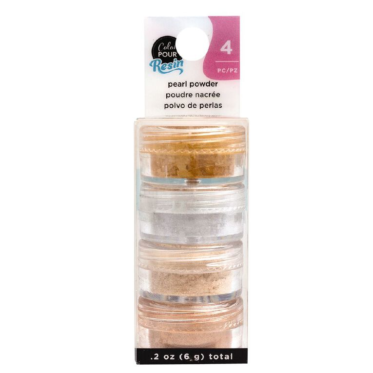 American Crafts Color Pour Mix-Ins Pearlescent Powder Metallic 4 Pack, , hi-res