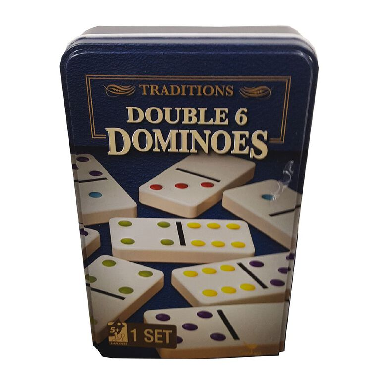 Red Bird Traditions Double Six Dominoes Game, , hi-res