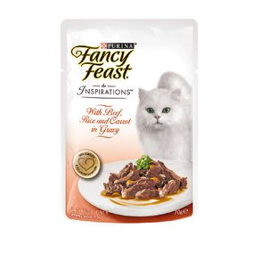Fancy Feast Inspirations Beef with Rice 70g Pouch