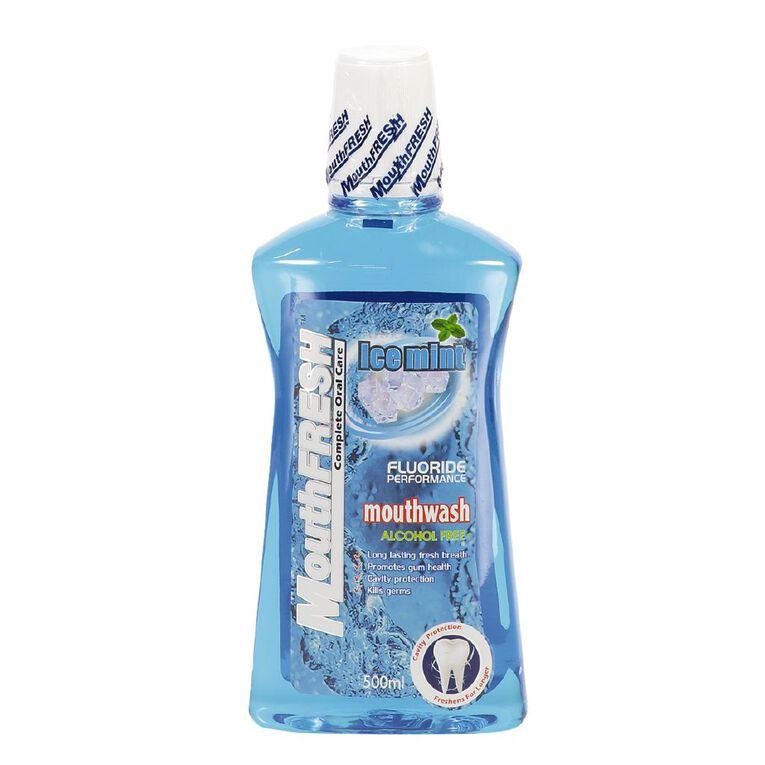MouthFresh Mouthwash Active Ice Mint 500ml, , hi-res