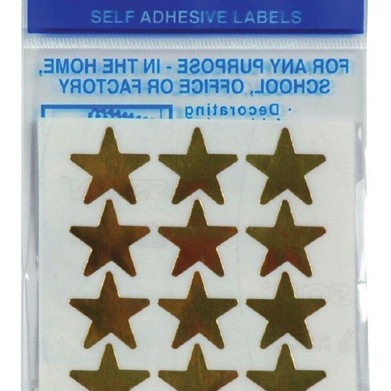 Quik Stik Labels Labels Stars Large Gold, , hi-res