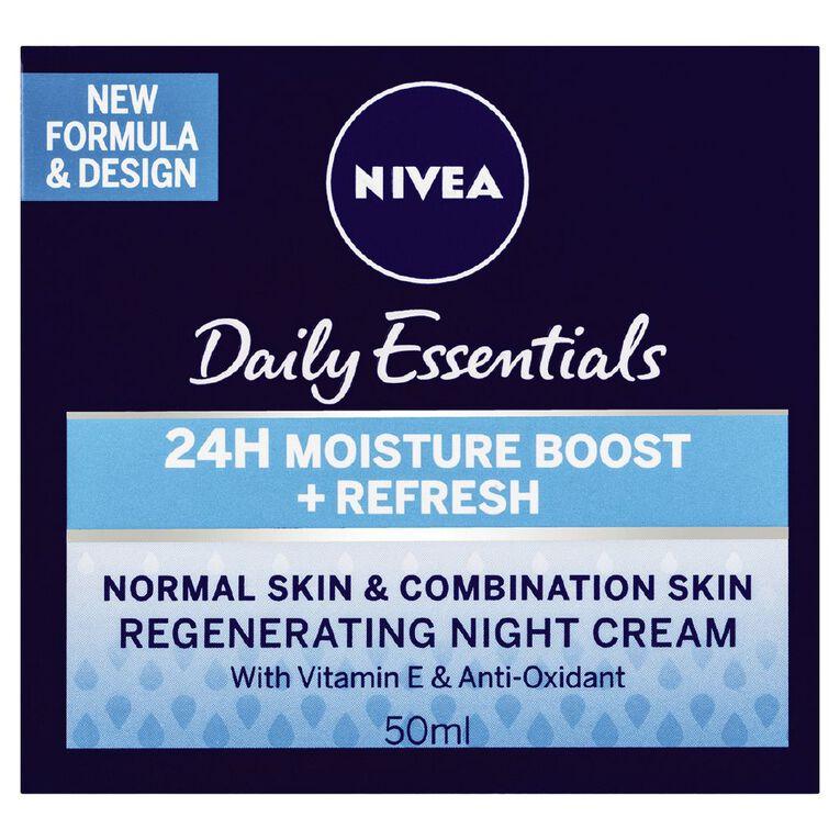 Nivea Daily Essentials Normal Skin Night Cream 50ml, , hi-res