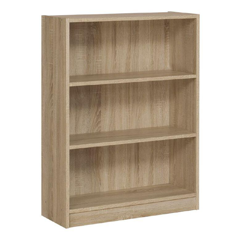Workspace Soho 3 Tier Bookcase Oak, , hi-res
