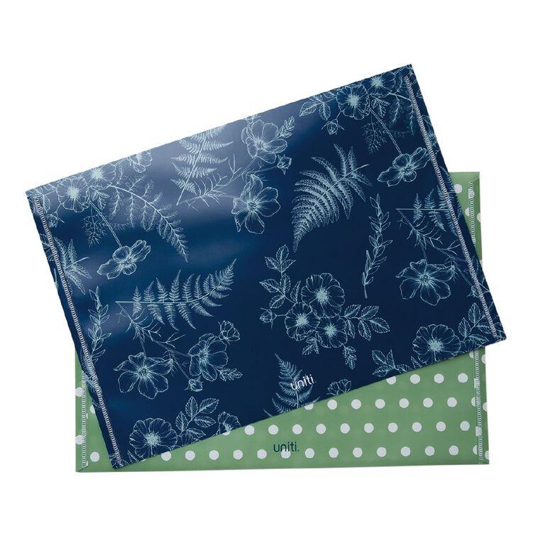 Uniti Kiwi Breeze Document Wallet 2 Pack Green A4, , hi-res