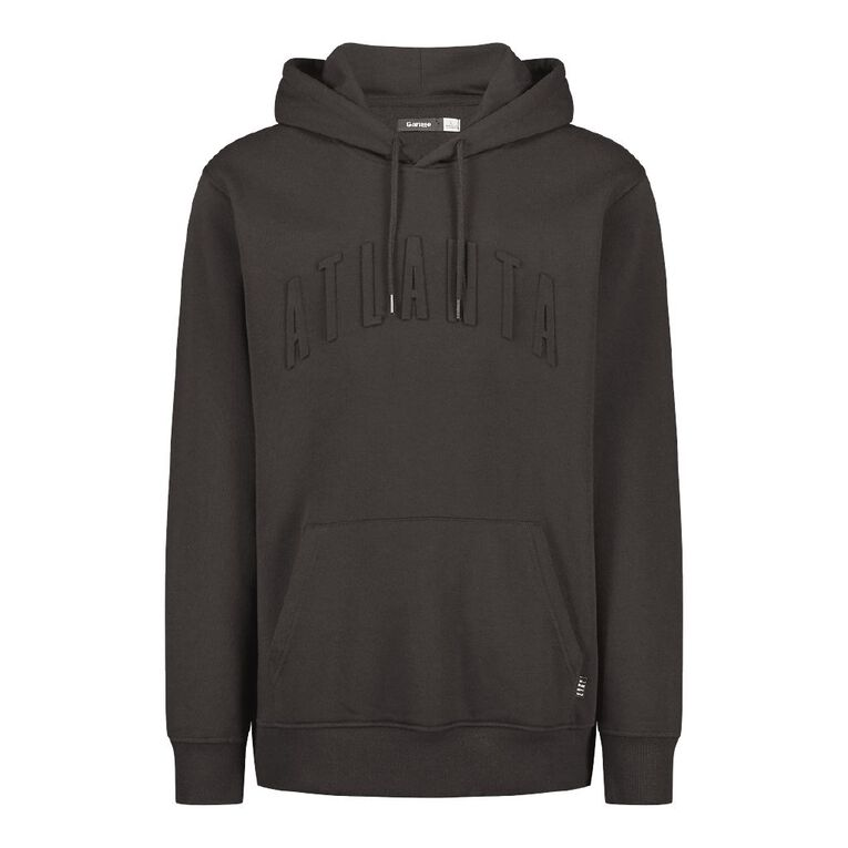 Garage Men's Hooded Embossed Sweatshirt, Black, hi-res