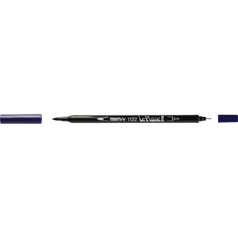 MARVY Le Plume II Dual Tip Marker Prussian Blue, , hi-res