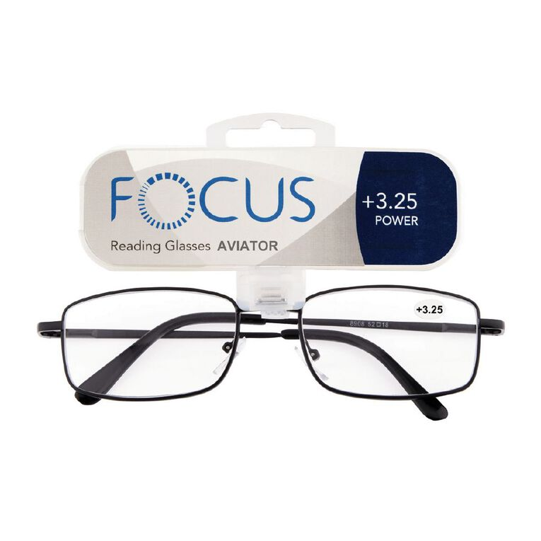 Focus Reading Glasses Aviator Power 3.25, , hi-res
