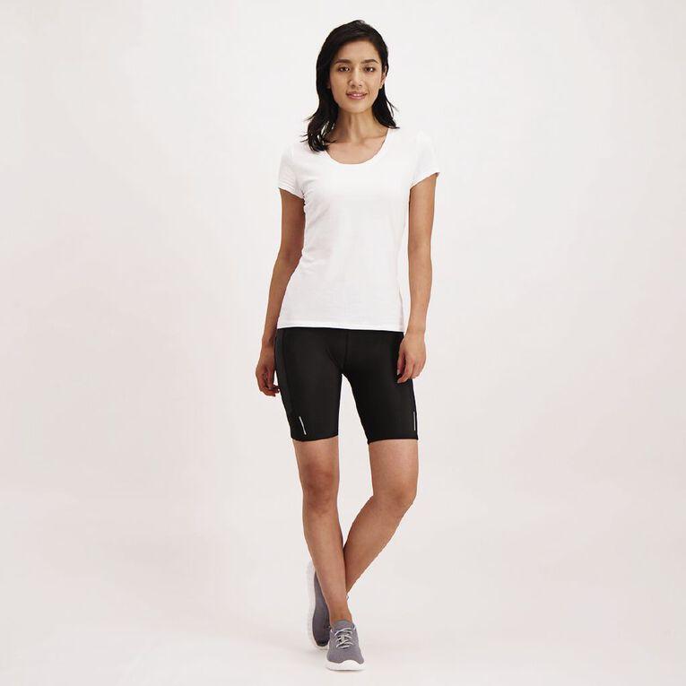Active Intent Women's Compression Fit Shorts, Black, hi-res