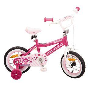 Milazo Girls' 12 inch Pink Bike-in-Box 403
