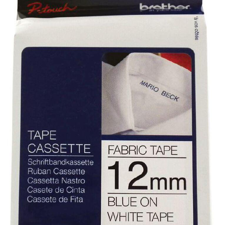 Brother Label Tape TZEFA3 Blue on White 12mm x 3m, , hi-res
