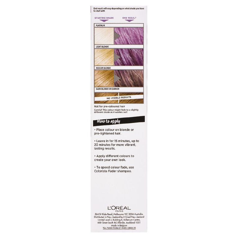L'Oreal Paris Colorista Wash Out  Purple Hair, , hi-res image number null