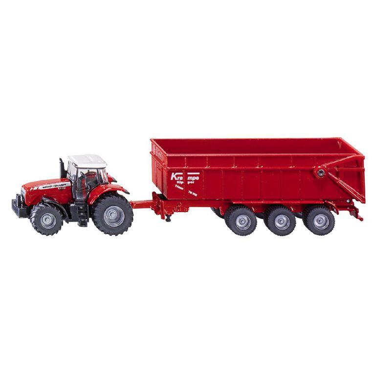 Siku 1:87 Massey Ferguson 8480 Tractor with Krampe Tipping Trailer, , hi-res