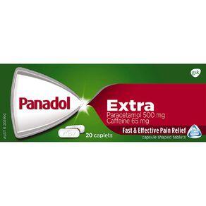Panadol Extra Optizorb Caplet 20s - LIMIT OF 1 PER CUSTOMER