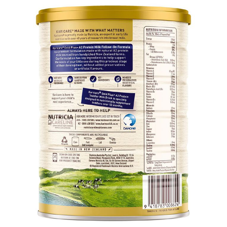 Karicare Gold+ A2 Protein Follow On Formula Stage 2 900g 900g, , hi-res