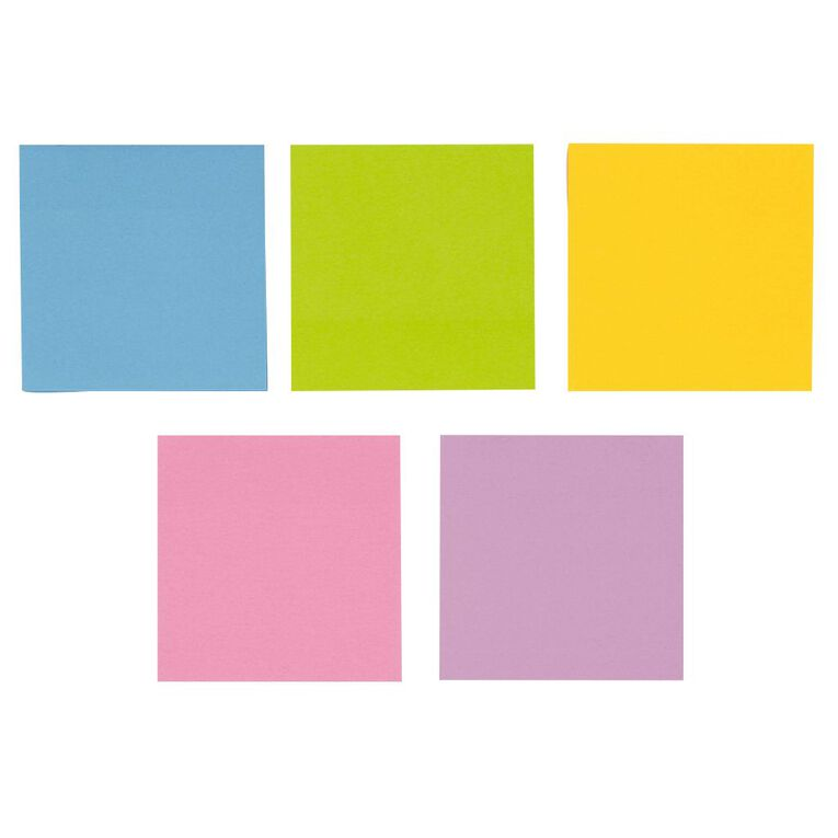 WS Fluro Sticky Notes 76mm x 76mm 5 Pack, , hi-res
