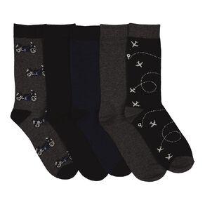 H&H Men's Business Crew Socks 5 Pack