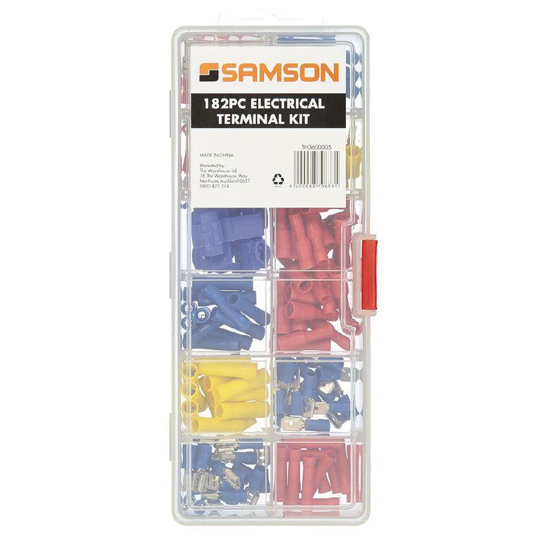 Mako Electrical Terminal Kit 182 Piece, , hi-res