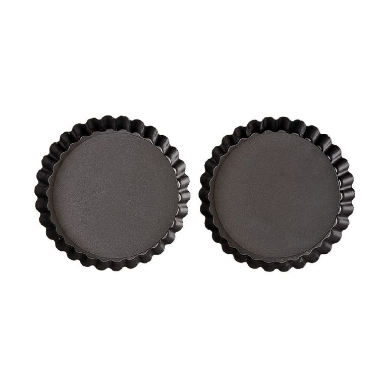 Living & Co Heavy Gauge Non Stick Mini Flan Dish 2 Pack, , hi-res