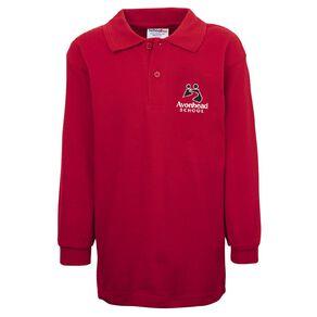 Schooltex Avonhead Long Sleeve Polo with Embroidery