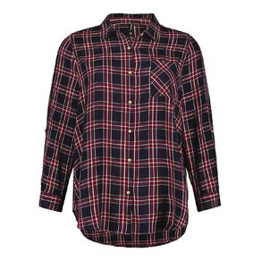 H&H Plus Women's Check Shirt