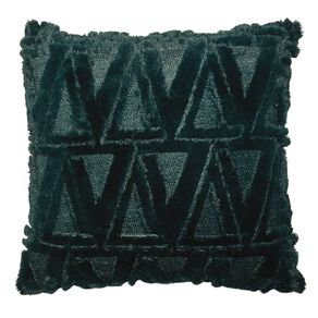 Living & Co Carved Fleece Cushion Botanical 40cm x 40cm
