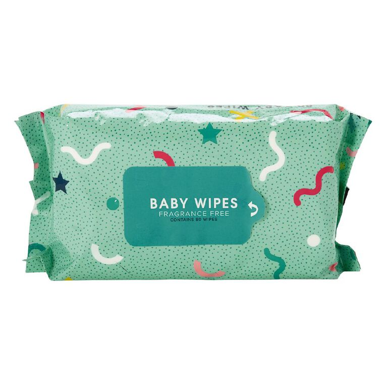 Baby Wipes 80 Fragrance Free, , hi-res