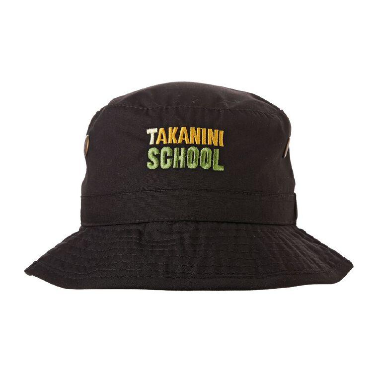 Schooltex Takanini School Bucket Hat with Embroidery, Black, hi-res