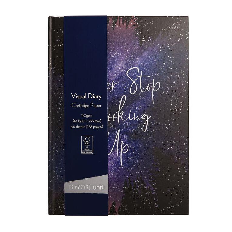 Uniti Platinum Visual Diary Hardcover Never Stop Looking Up A4, , hi-res