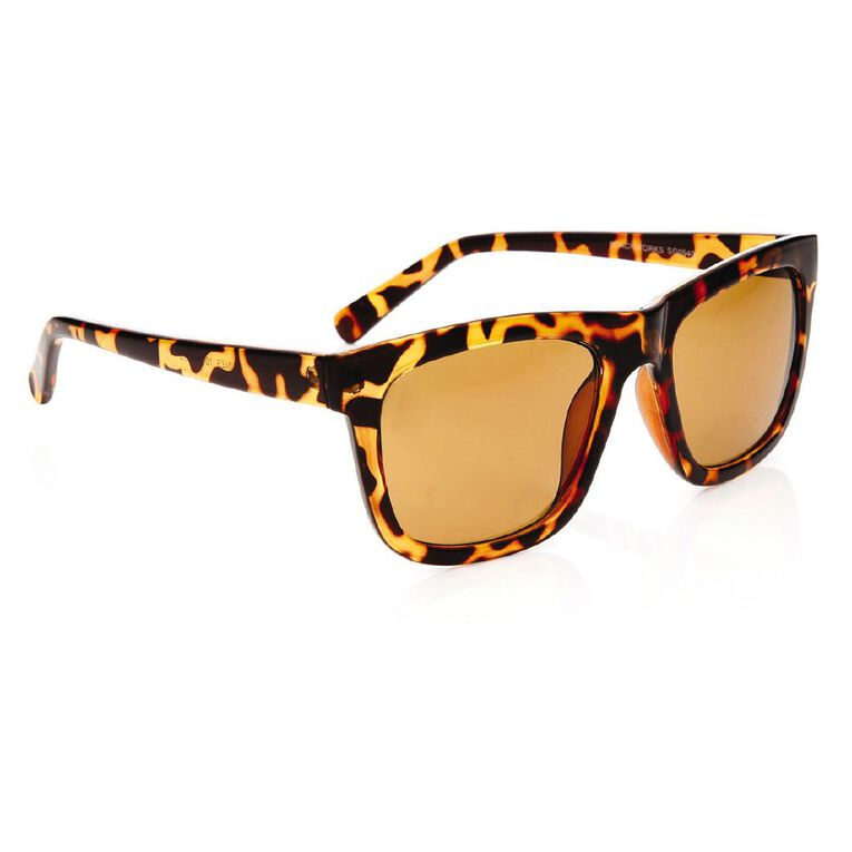 Beach Works Unisex Tortoise Sunglasses, Brown, hi-res image number null