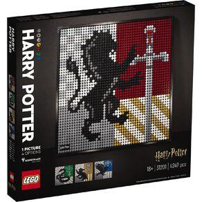 LEGO Art Harry Potter Hogwarts Crests 31201