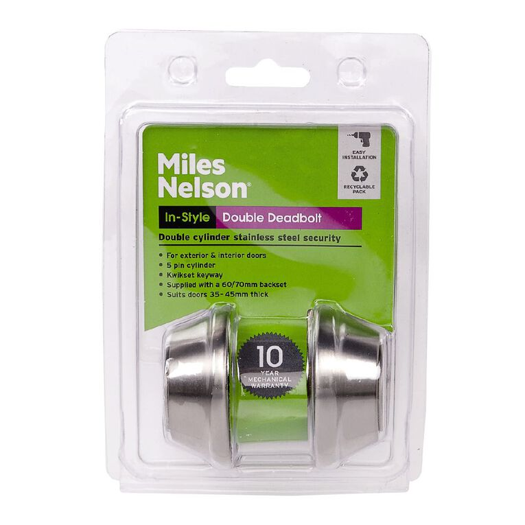 Miles Nelson Double Keyed Cylinder Deadbolt, , hi-res