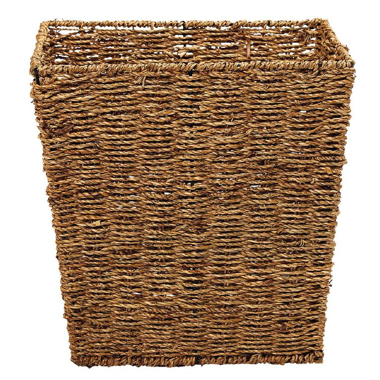 Living & Co Seagrass Square Basket Natural Medium, , hi-res