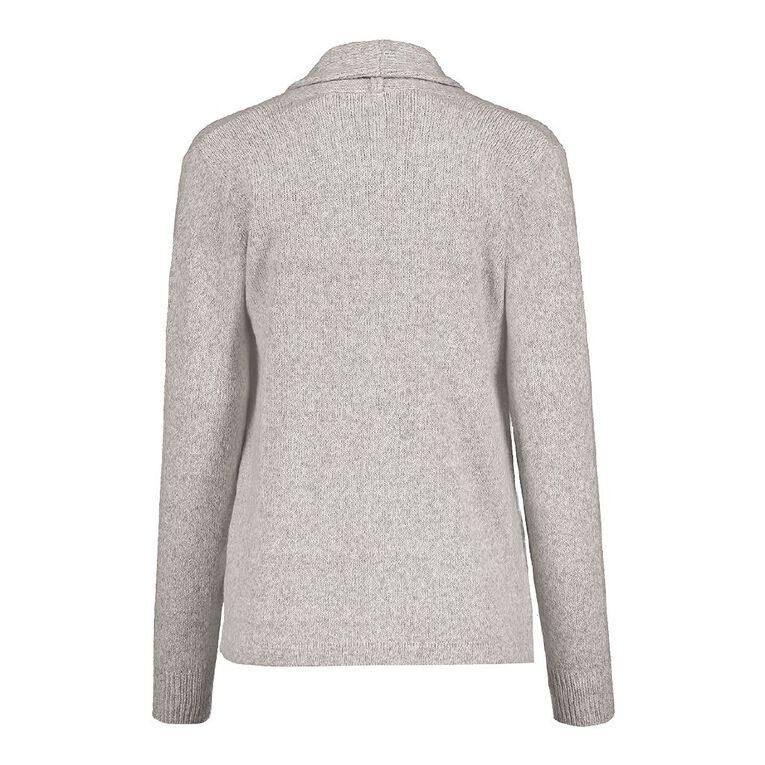 Pickaberry Women's Soft Drape Cardigan, Grey Marle, hi-res