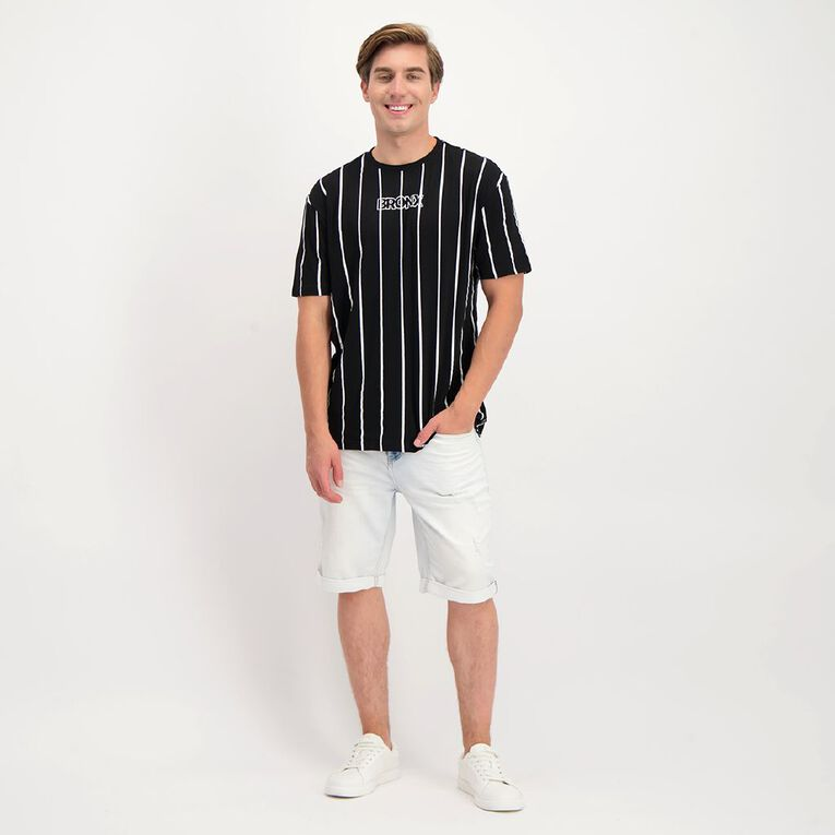 Garage Men's Printed Stripe Tee, Black/White, hi-res