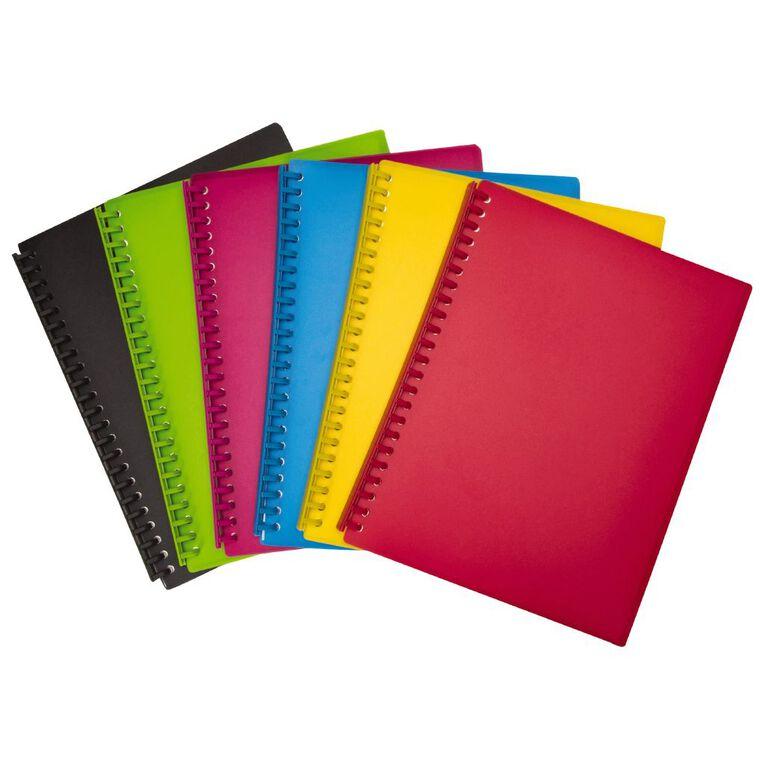 WS Clear Book Refillable 20 Leaf Black A4, , hi-res