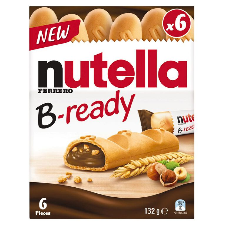 Nutella B-ready 22g 6 Pack, , hi-res