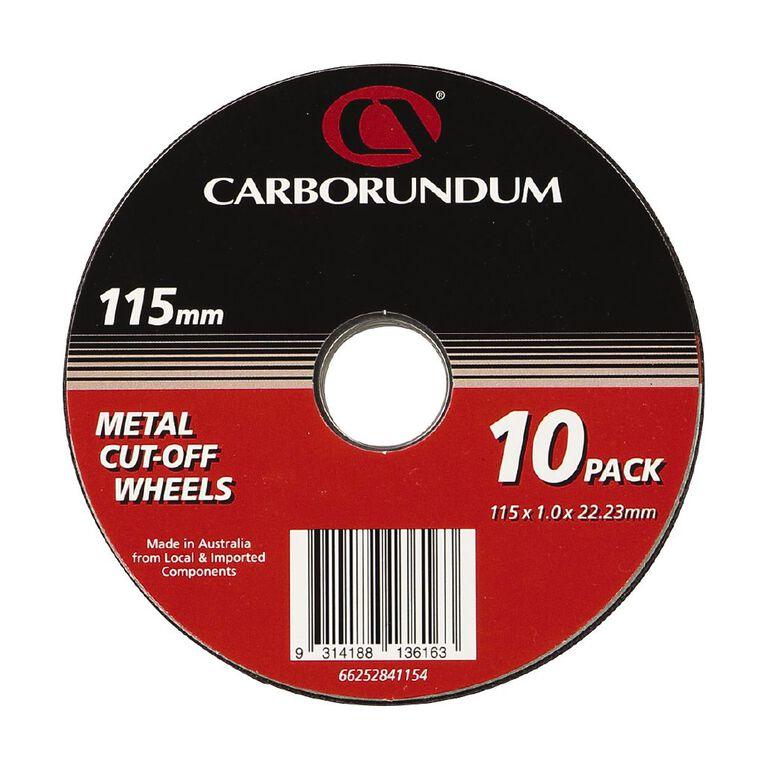 Carborundum Cutting Discs 115mm  x 22mm 10 Pack, , hi-res