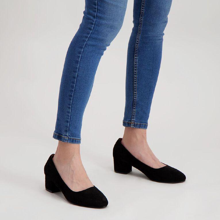 H&H Close Toe Dress Low Heels Shoes, Black, hi-res
