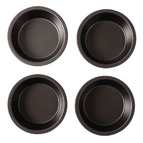 Living & Co Heavy Gauge Non Stick Mini Pie Pan 4 Piece