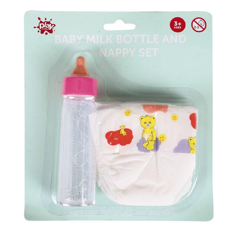 Milk Bottle and Nappy Set, , hi-res