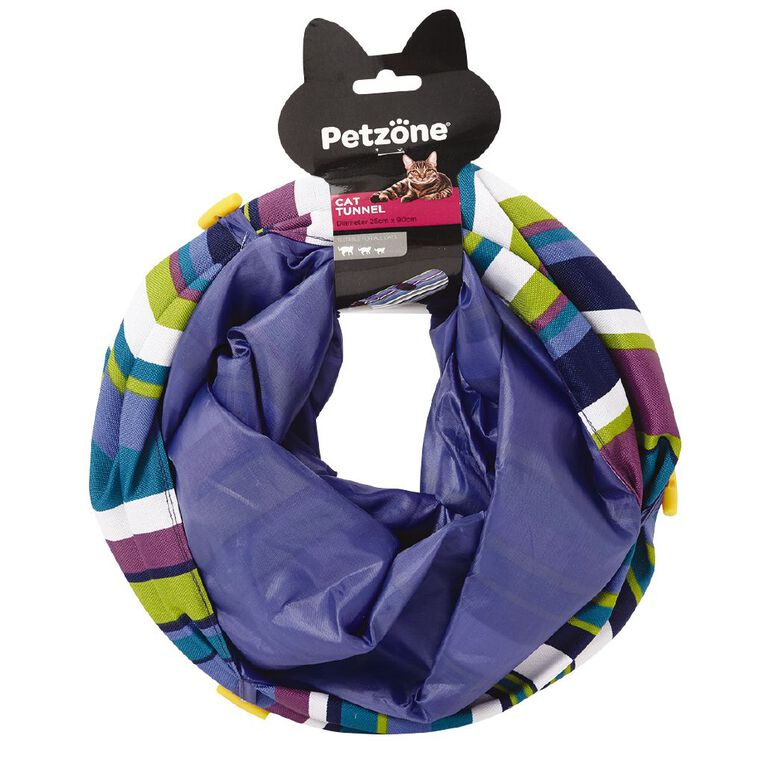 Petzone Cat Tunnel With Stripes, , hi-res
