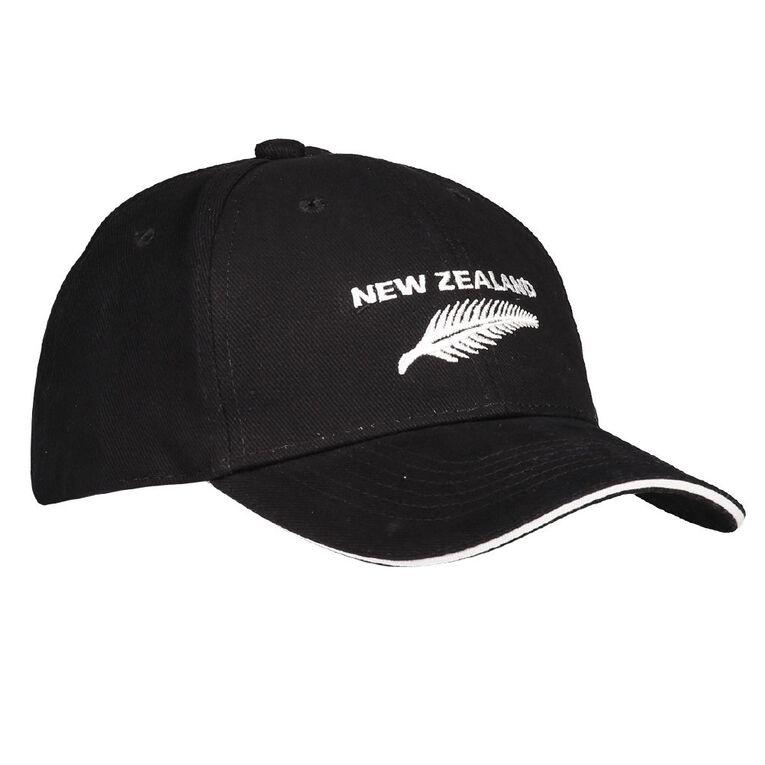 H&H Men's NZ Fern Cap, Black, hi-res