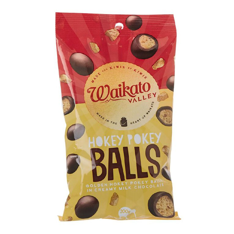 Waikato Valley Chocolates Milk Chocolate Hokey Pokey Balls 200g, , hi-res