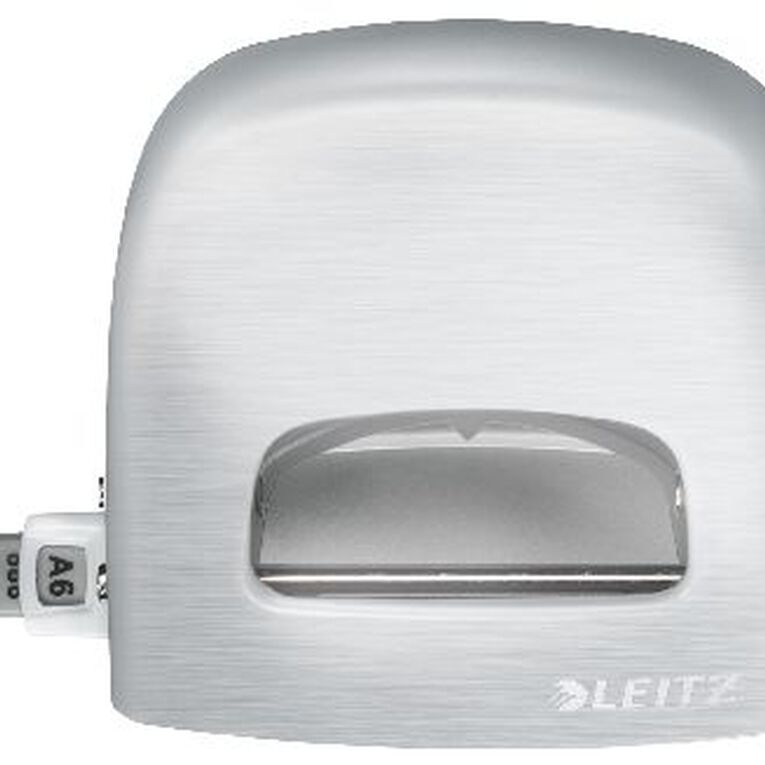 Leitz Metal 2 Hole Punch 30 Sheet Titan White, , hi-res
