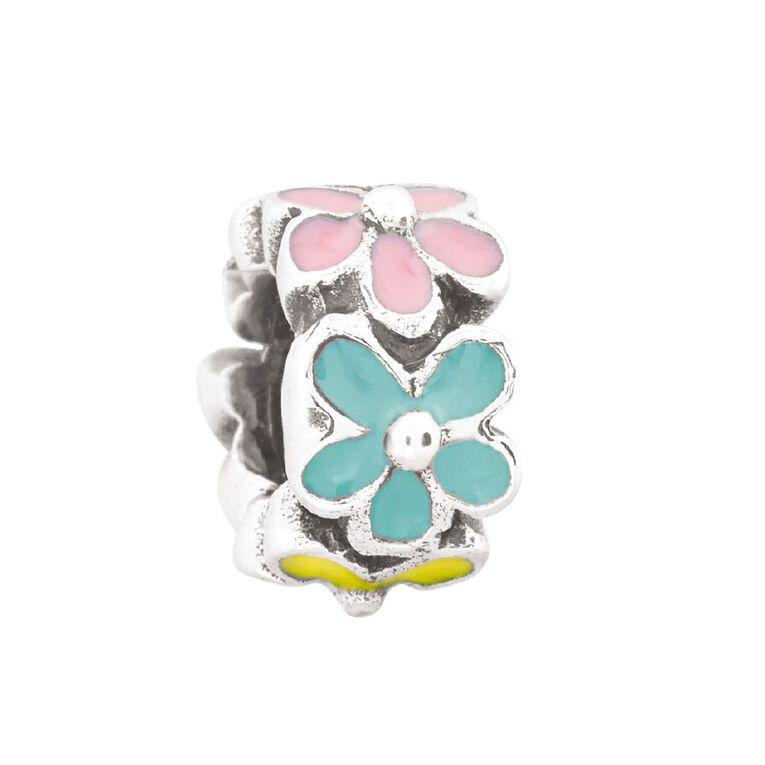 Ane Si Dora Sterling Silver Flower Circle Charm, , hi-res