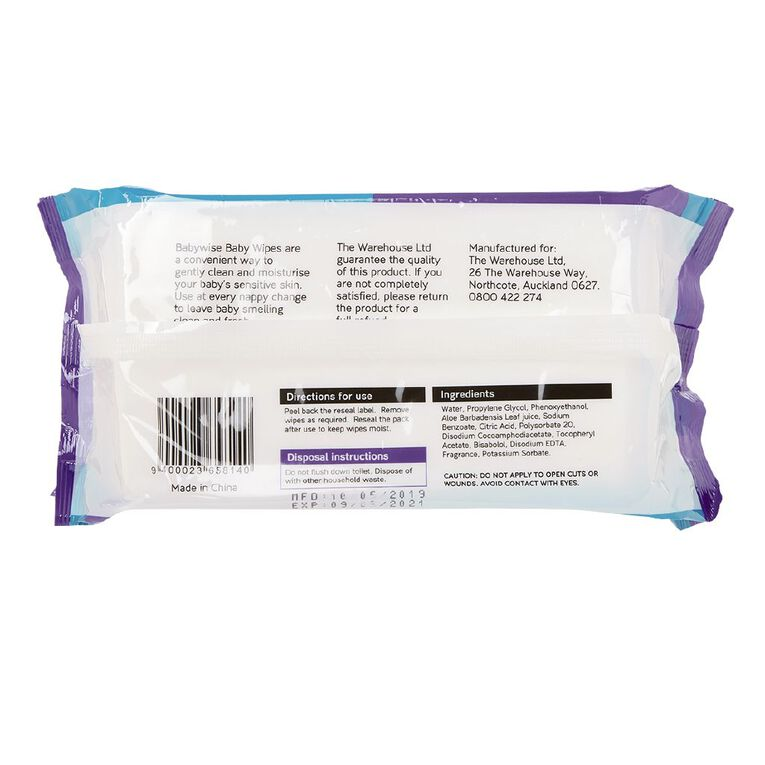 Babywise Scented Wipes 80 Pack, , hi-res
