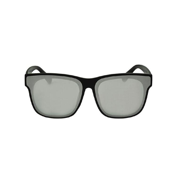 H&H Men's Frosted Black Mirror Sunglasses, Black, hi-res