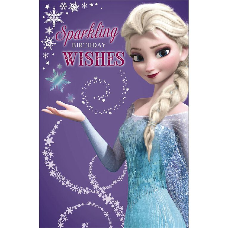 John Sands Juvenile Non Age Card Girl Juv Disney Frozen Elsa, , hi-res